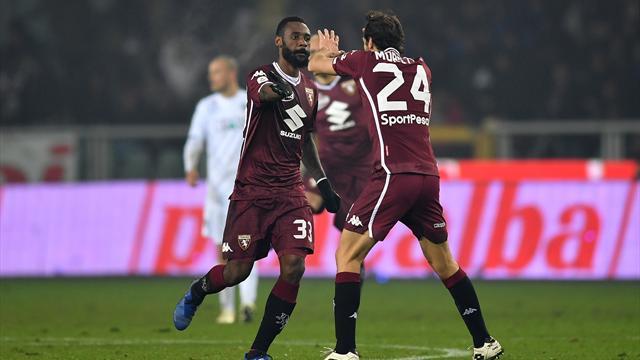 N'Koulou-De Silvestri-Iago Falque, il Torino cala il tris sull'Empoli e si porta a -2 dal Milan