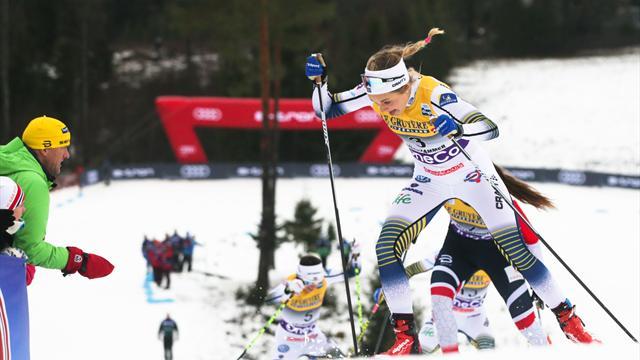 Tour de Ski | Stina Nilsson oppermachtig op de sprint