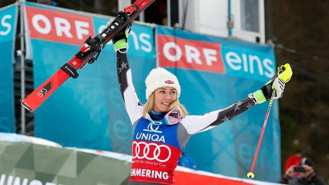 La descente pour la sortie de la reine Lindsey — Mondiaux de ski