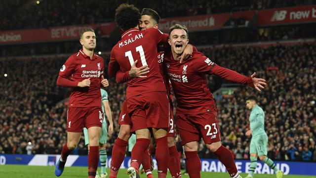 Liverpool marche sur Arsenal et la Premier League