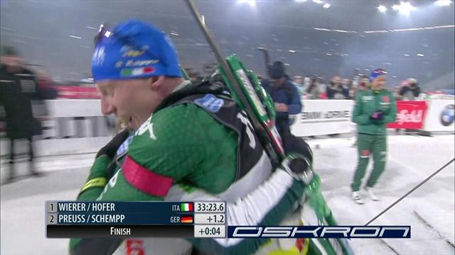 Biathlon Auf Schalke | Eerste Italiaanse eindzege in World Team Challenge