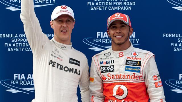 """Hamilton würdigt Schumacher: """"Wird immer der Größte bleiben"""""""