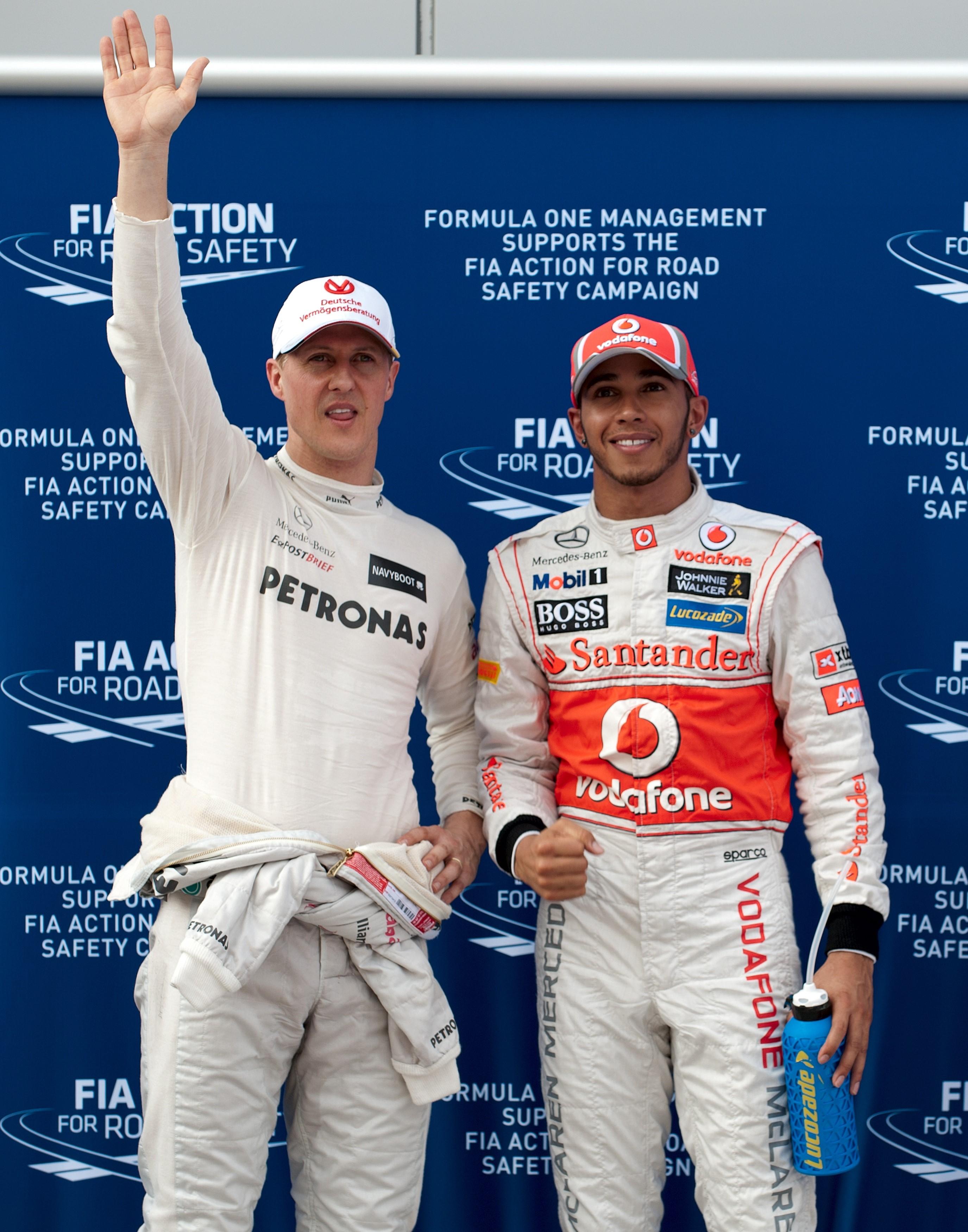 Michael Schumacher et Lewis Hamilton