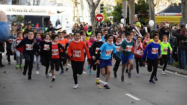 La mini San Silvestre reúne a alrededor de 1.500 niños de todas las edades