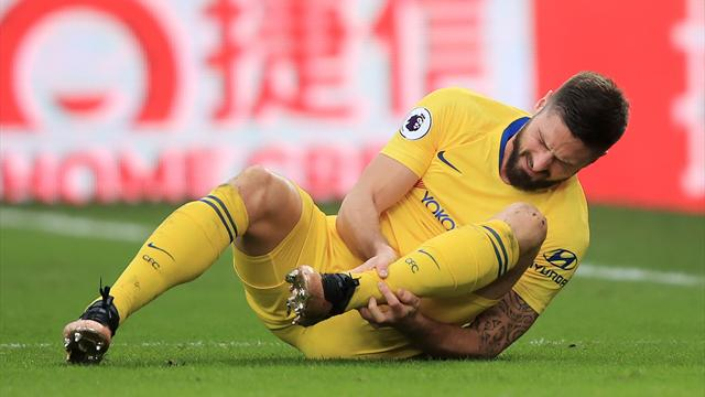 Titulaire face à Palace, Giroud est sorti blessé
