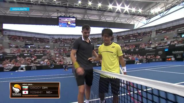 Highlights: Dimitrov defeats Nishioka as 2019 campaign gets underway