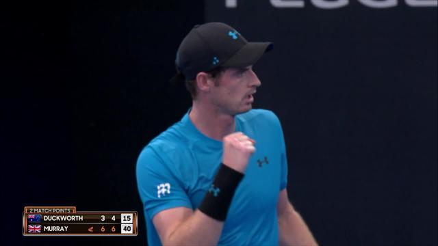 'Up and running' - Murray wins comeback match in Brisbane