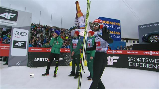 Torneo de los 4 Trampolines: El alemán Eisenbichler volvió a rozar el triunfo
