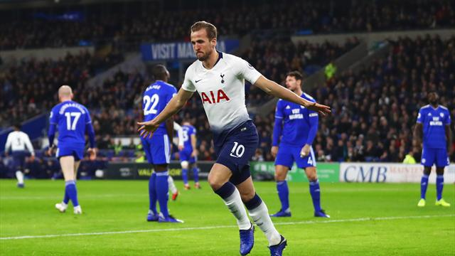 Kane scores early as Tottenham cruise past Cardiff