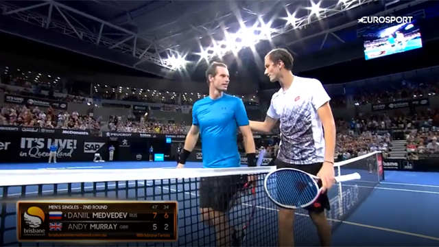 Highlights: Murray struggles in Medvedev defeat