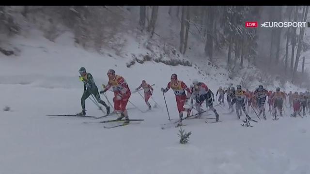 Tour de Ski | Emil Iversen wint de 15km massastart, Klaebo blijft leider.