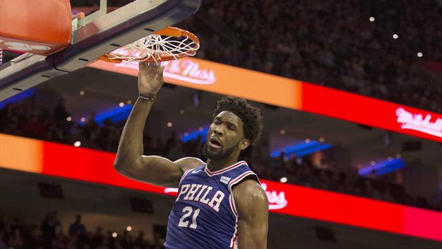 30 points, 14 rebonds... à la mi-temps : Embiid a fait un chantier face aux Suns