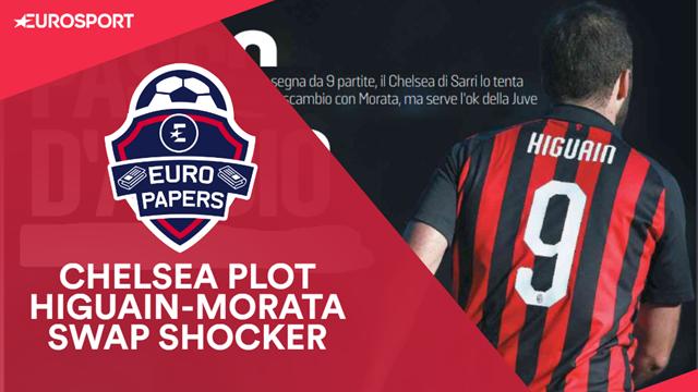 Euro Papers: Chelsea plot Higuain-Morata swap shocker