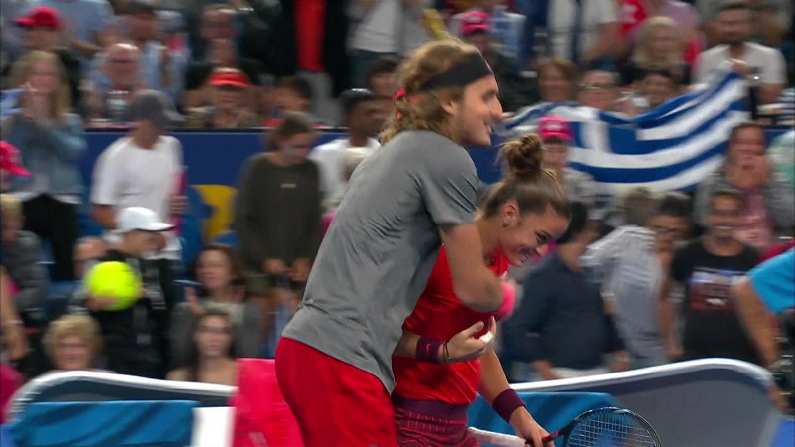 VIDEO - Maria Sakkari and Stefanos Tsitsipas down Belinda Bencic and Roger  Federer - Hopman Cup doubles - Video Eurosport
