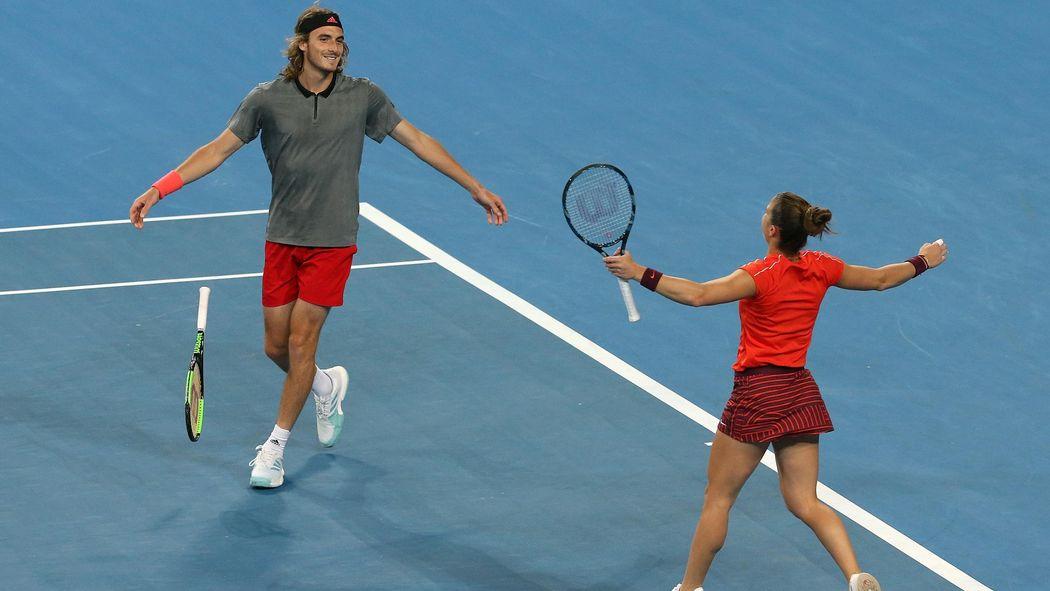 Tennis News Greece Beat Switzerland In Hopman Cup As Roger Federer