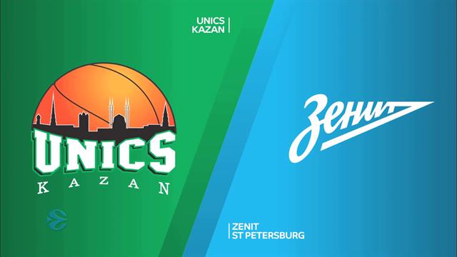EuroCuphighlights: UNICS Kazan v Zenit St Petersburg