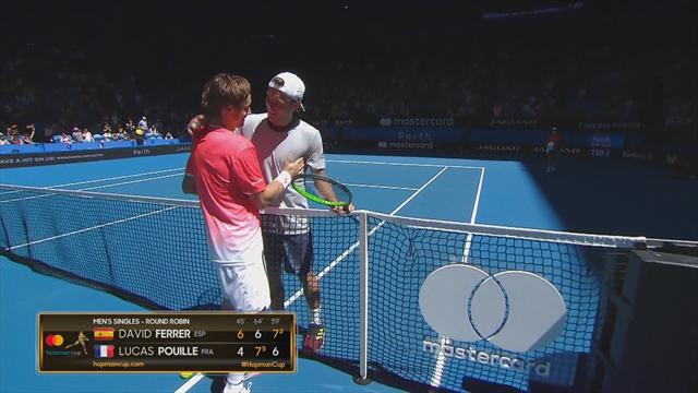 David Ferrer eases past Lucas Pouille at Hopman Cup
