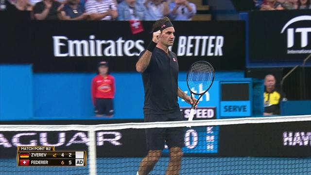 Highlights: Federer beats Zverev, Switzerland lead final