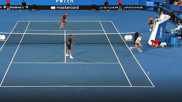 Wow! Kerber mit sensationellem Punkt gegen Federer