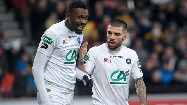 Bousculé par le Stade Pontivyen, Guingamp s'en est remis à Thuram pour se qualifier