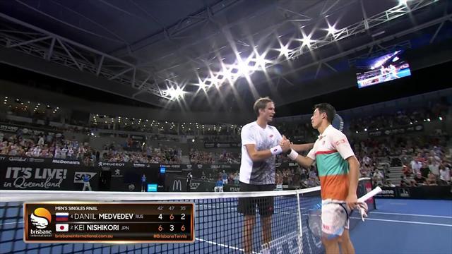 Kei Nishikori trionfa a Brisbane: gli highlights della finale contro Daniil Medvedev