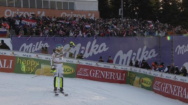 Watch Felix Neureuther's second run in Zagreb
