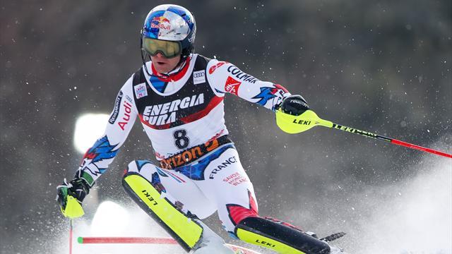 Pinturault retrouve le podium en slalom derrière le maître Hirscher
