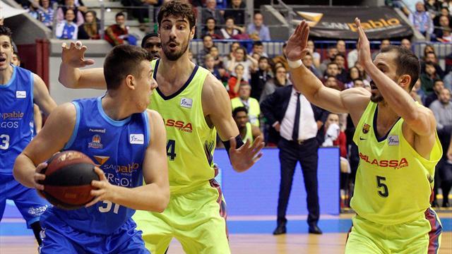 Liga ACB, Burgos-Barcelona: Defendiendo el liderato (80-85)