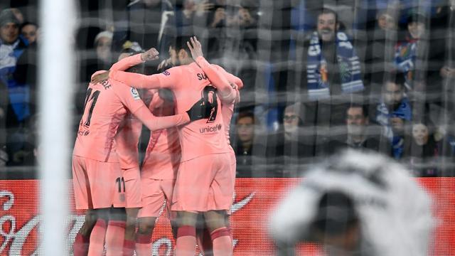 Messi-Suarez: il Barcellona vince 2-1 contro il Getafe e vola a +5 in cima alla Liga