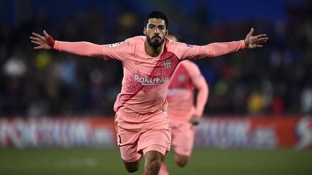 Messi et Suarez continuent de porter le Barça