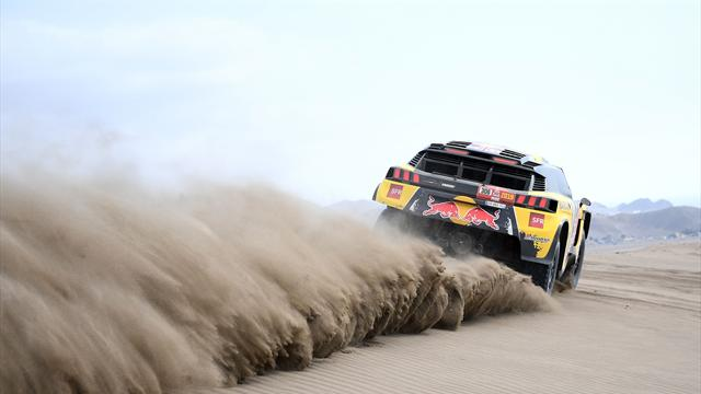 Loeb wins Dakar second stage in Peru, De Villiers leads