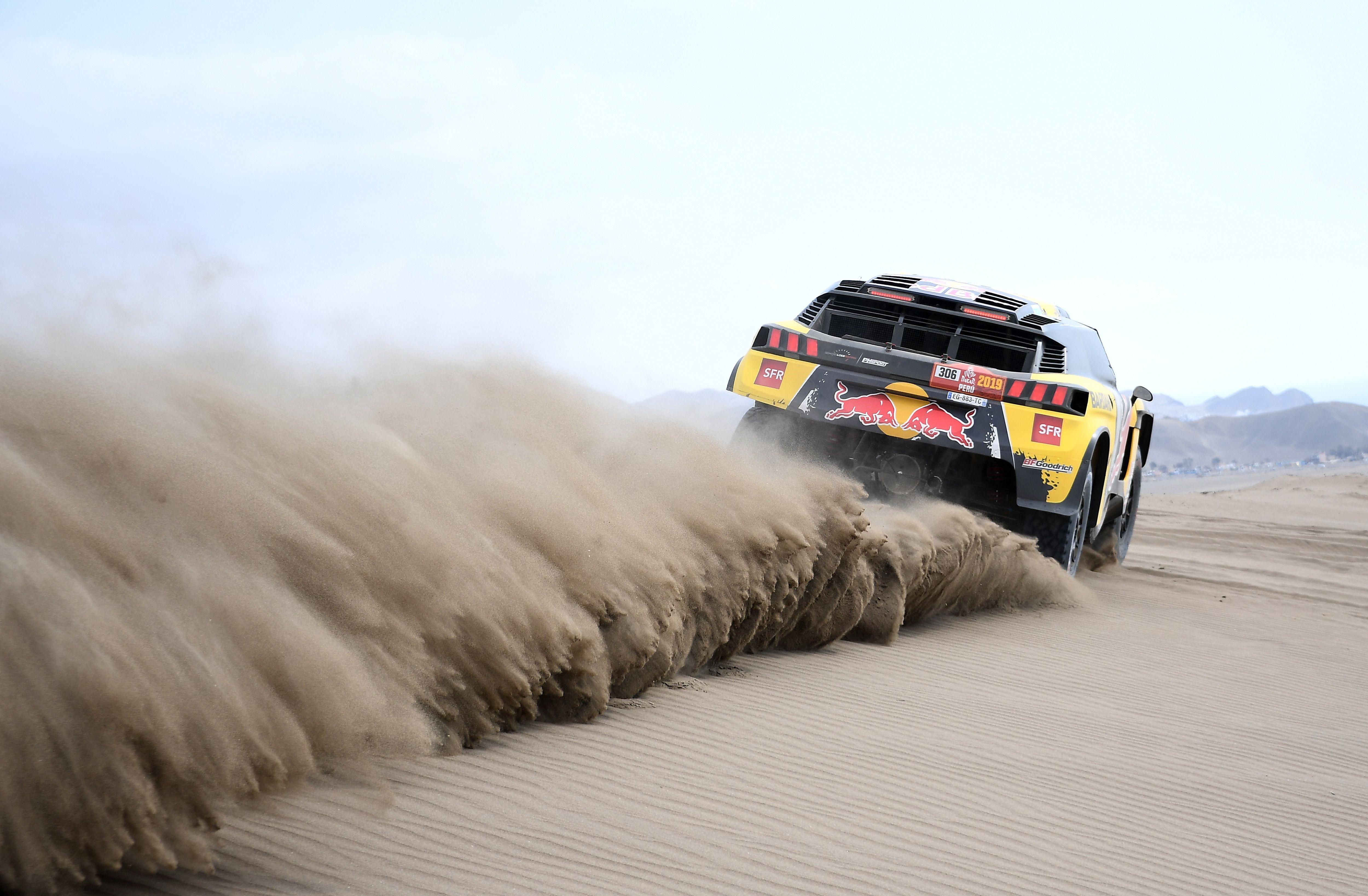 Sébastien Loeb lors du Dakar 2019