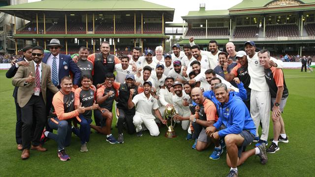India end 71-year drought after soggy Sydney draw