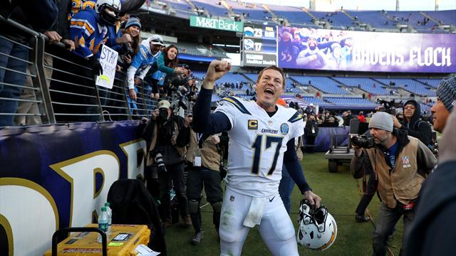 Rivers will be younger quarterback against Patriots after LA charge through