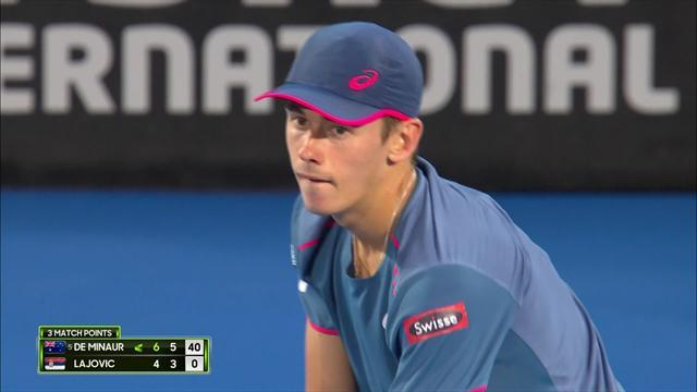 ATP, Sydney: il match point che consegna la vittoria a De Minaur