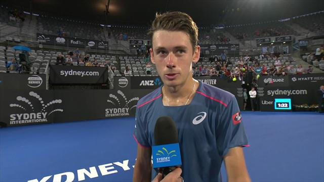De Minaur: There's nothing better than playing in front of friends and family