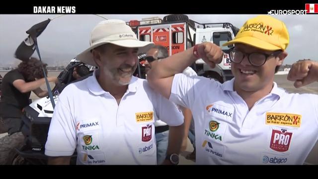 Lucas Barron, il primo concorrente della Dakar con la sindrome di Down