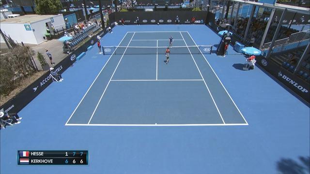 Tennis | Kerkhove na thriller uitgeschakeld in kwalificatie Australian Open