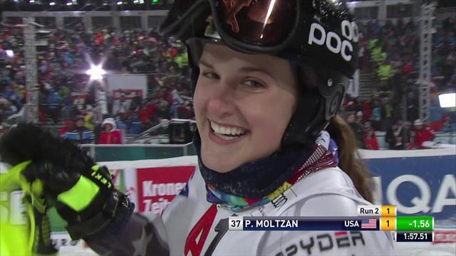 Dans le ski US, il n'y a pas que Shiffrin : la superbe 2nde manche de Paula Moltzan
