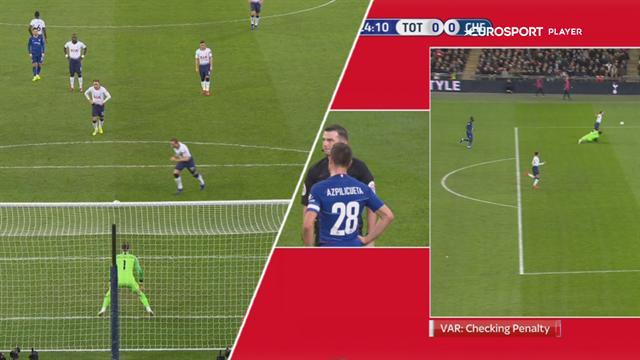 Highlights: Harry Kane og Tottenham tog det første stik mod Chelsea efter kontroversiel VAR-scoring