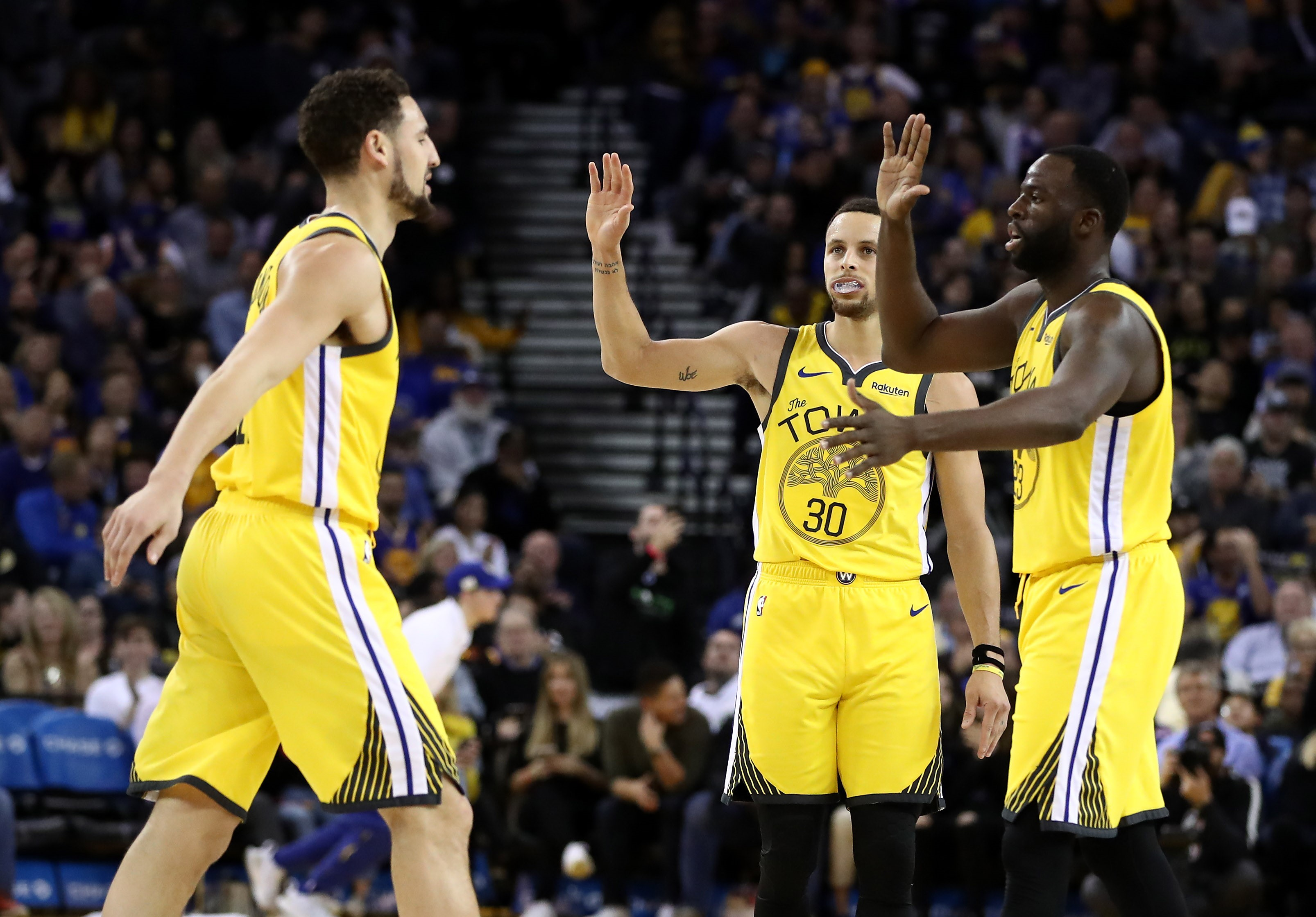 Klay Thompson, Stephen Curry, Draymond Green (Golden State Warriors)