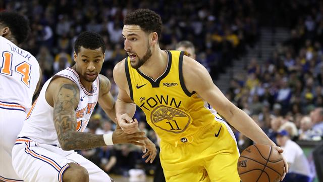 Klay Thompson tumba a los Knicks con 43 puntos