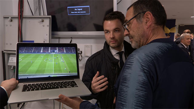 Sarri brings out laptop to try and prove Kane was offside in controversial VAR call