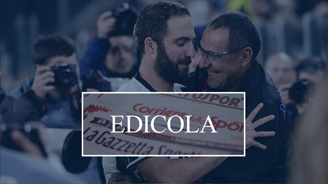 Edicola: Sarri si avvicina alla Juventus, nel Milan risale Gattuso