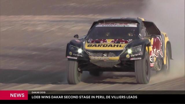 Sebastian Loeb takes stage 2 victory in Dakar Rally