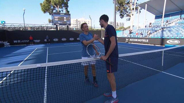 Australian Open qualifying highlights: Ward battles back to beat Banes