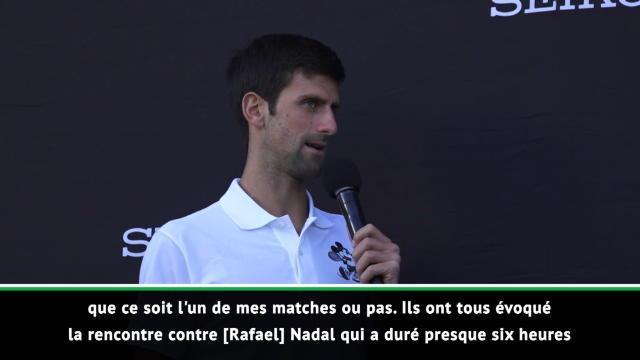Open d'Australie - Djokovic révèle son meilleur match disputé en carrière