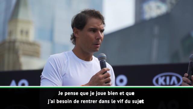 """Open d'Australie - Nadal : """"Je réalise une bonne semaine de préparation"""""""
