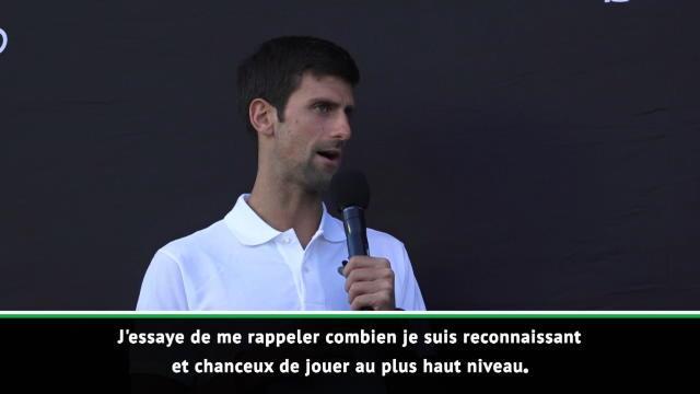 """Open d'Australie - Djokovic : """"Reconnaissant et chanceux de jouer au plus haut niveau"""""""