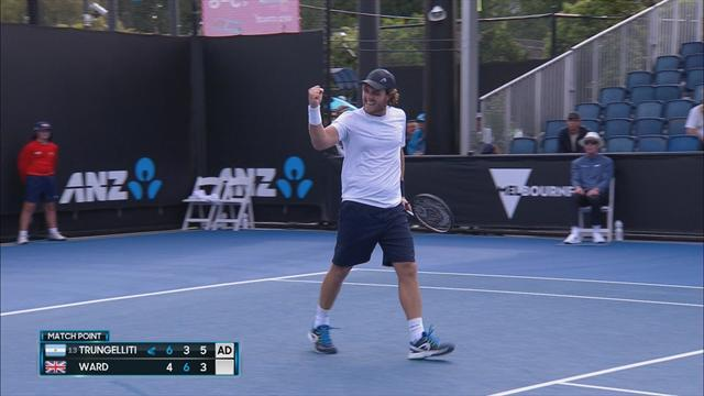 Trungelliti downs Ward in Australian Open qualifying